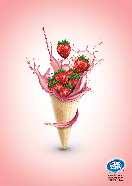Ice cream in commercials - Brandixit